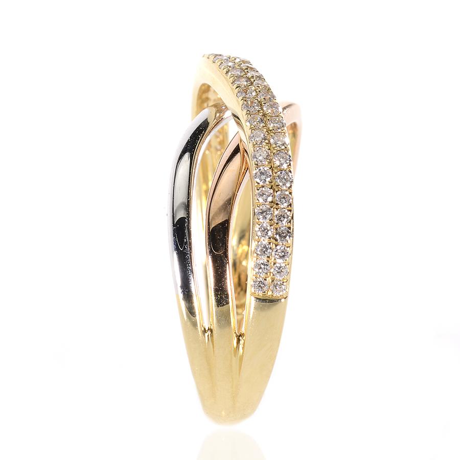 duhalde diamants bijoutier biarritz bayonne bague 3 ors et diamants p2767. Black Bedroom Furniture Sets. Home Design Ideas